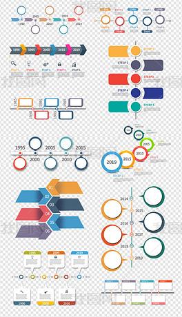 时间轴ppt企业发展历程psd模板素材