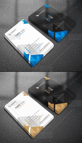 几何极简竖版个人名片企业公司二维码卡片