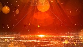 (无缝循环)红色粒子光线光斑背景视频