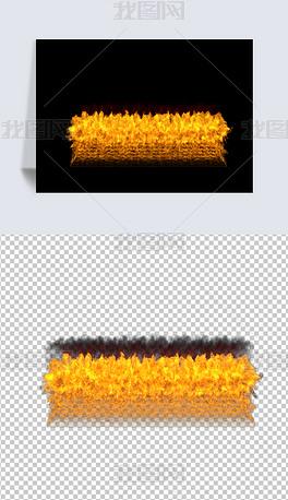 大火燃烧效果免抠图元素
