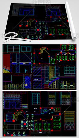 CAD美发店施工图
