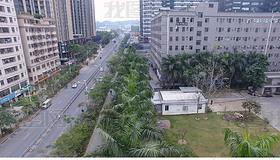 绿色整洁深圳龙岗区旧科技园环境航拍视频