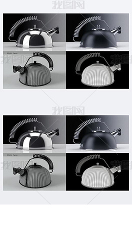 3D模型吹口哨壶