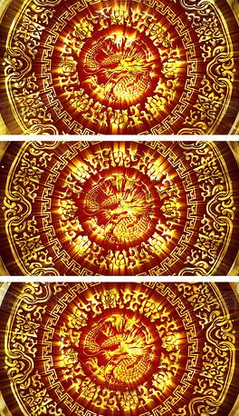 中国风大气宫廷金銮殿龙纹雕刻视频素材