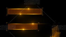 金色科技粒子光线字幕条视频素材