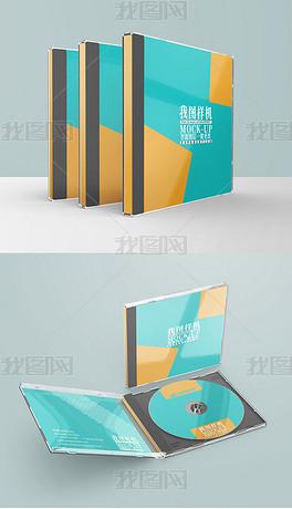 CD光盘面光盘封面设计vi模板样机