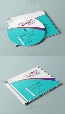 cd光盘塑料包装盒盘面设计样机