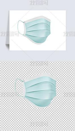 医疗外科手术口罩免扣png素材
