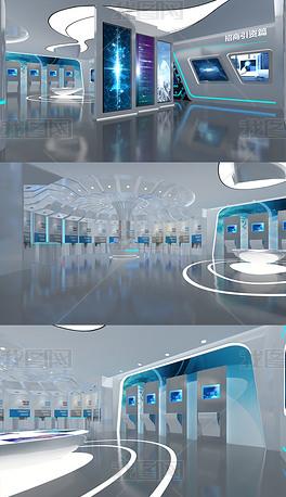 现代科技医药展厅3DMAX模型效果图