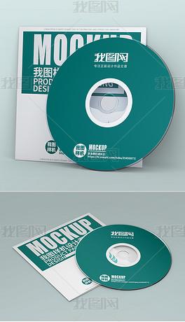 CD光盘面光盘信封套设计vi模板样机