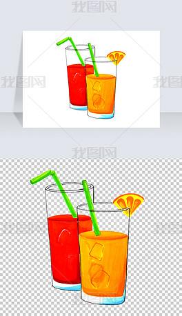 手绘冷饮果汁PNG