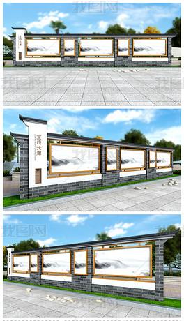 文化长廊中国风宣传栏户外宣传栏中式宣传栏