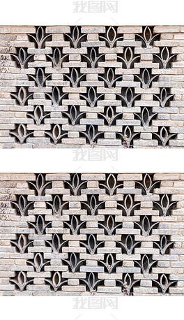 砖瓦几何图案墙素材