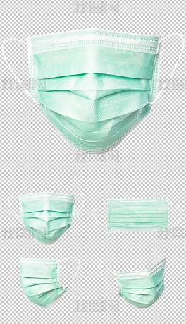 抗击肺炎口罩一次性口罩png免扣素材透明