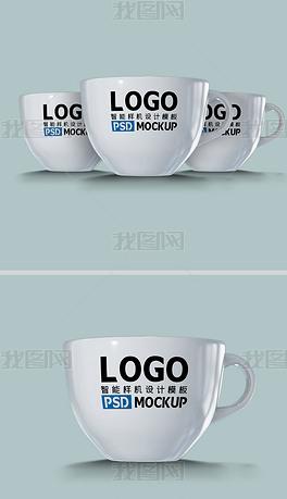 咖啡杯马克杯印logo样机