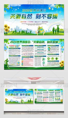 2020世界环境日宣传栏展板
