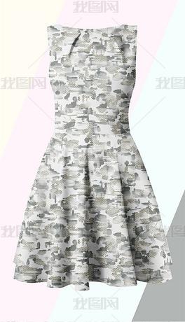 点状几何抽象纹理服装图案印花