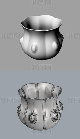 宝石瓷器茶杯子犀牛模型3D模型obj模型
