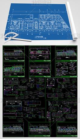 全套精品办公空间CAD施工图