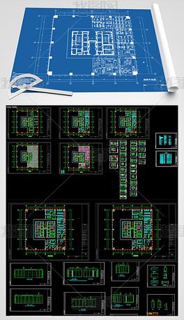 全套时尚办公室CAD施工图