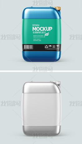 大塑料桶水桶液体化工桶标签设计样机