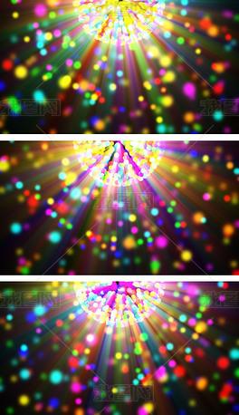 4K紫醉金迷彩色粒子抒情意境背景