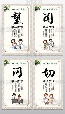 中国风中医院望闻问切海报设计