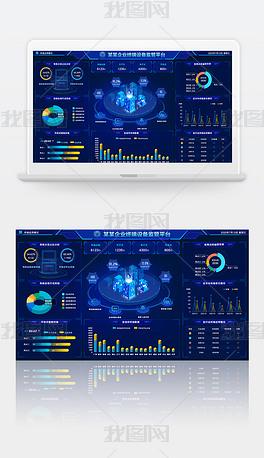 科技感可视化数据大屏背景数据大屏界面