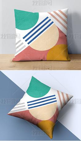 现代简约北欧ins风抽象几何线条抱枕靠垫