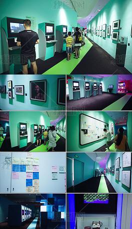 游戏机展览馆博物馆空镜GAMEON深圳