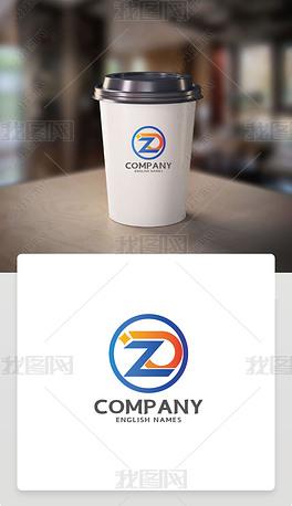 ZD字母标识ZD英文字体LOGO设计赏析