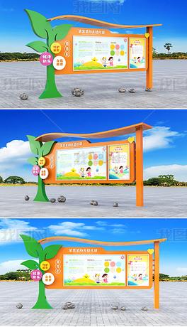幼苗卡通校园宣传栏学校文化墙幼儿园宣传栏