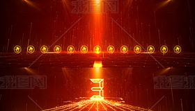 3-13红色科技震撼大气启动仪式视频AE