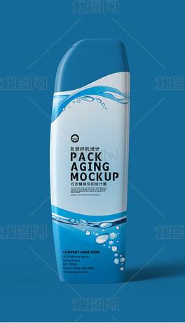 弧形洗发水沐浴露塑料瓶包装样机