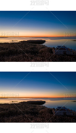 居延海的黎明