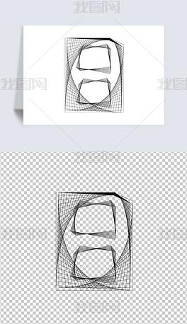 数字角标极简风线圈线条创意字体阿拉伯数字元素AI免扣PNG