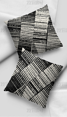 现代简约几何菱形线条抱枕