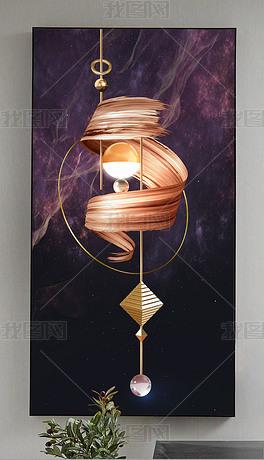 光影空间现代抽象艺术玄关装饰画三