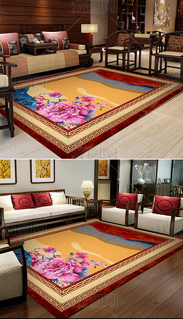 高档大气新中式地毯