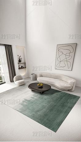 北欧现代轻奢几何抽象创意纹理极简艺术客厅地毯地垫图案设计