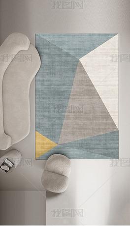 现代北欧简约几何轻奢艺术地毯地垫图案设计