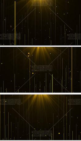 金色粒子光线上升展示企业年会简洁背景视频素材