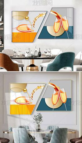 创意组合现代简约轻奢餐厅装饰画3