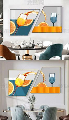 创意组合现代简约轻奢餐厅装饰画