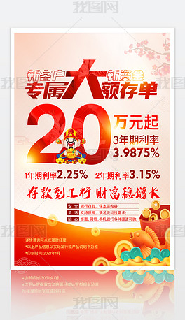 2021年牛年春节银行存款宣传单页模板设计小额贷款宣传单背景