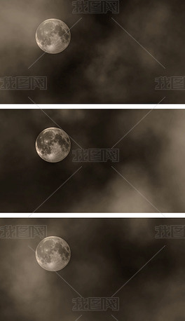 4K夜黑风高夜色笼罩月夜星空视频循环背景
