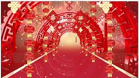 大气喜庆中国风喜宴庆典背景视频