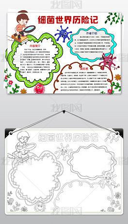 word简单好看四年级细菌世界历险记小报课外读书名著手抄报