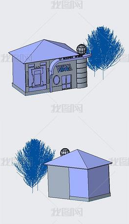 城市救助站实体模型(含STP)
