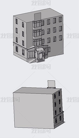 戏院大楼实体模型(含STP)